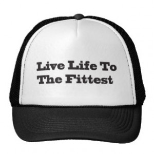 Exercise Inspirational Quotes Hats