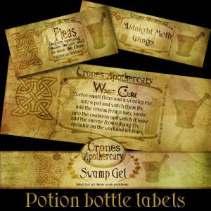 Thread: potion bottle labels