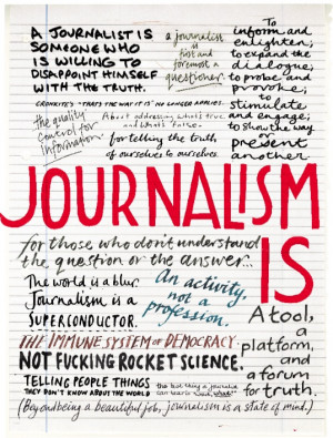 What are we talking about when we talk about journalism ? What makes ...