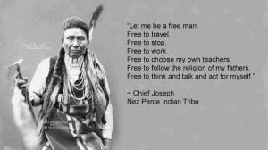 Chief Joseph- Nez Perce