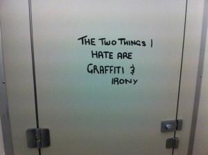 graffiti, grunge, hate, i, irony, pale, things, toilette