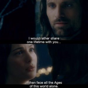 The lord of the rings. Arwen and Aragorn