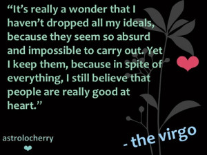 Virgo Quotes Star sign quotes virgo ann