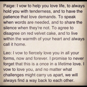 Paige & Leo's vows from The Vow