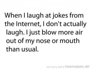 laugh jokes internet blow more air nose quote joke funny pics pictures ...