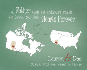Personalized Gift for Dad, Father Daughter Quote, Birthday Gift for ...