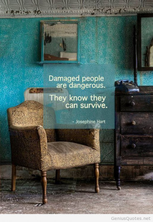 Damaged people quote