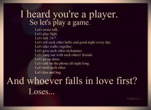 Funny Love Game Quote
