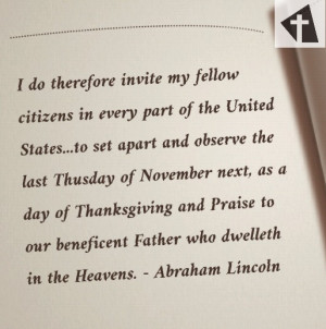 Abraham Lincoln Thanksgiving quote
