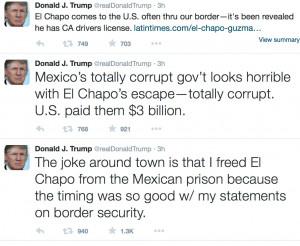 Job Creator El Chapo Has Unkind Words for Donald Trump