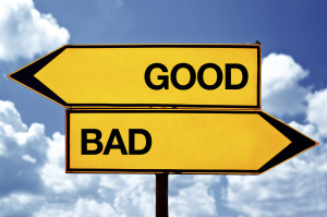 Make Good Choices Good or bad, opposite signs