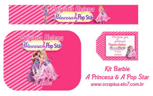 Festa Barbie Princesa Pop Star