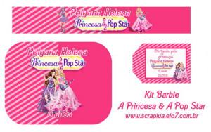 Festa Barbie Princesa Pop Star
