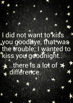 Heartbreak. Goodbye