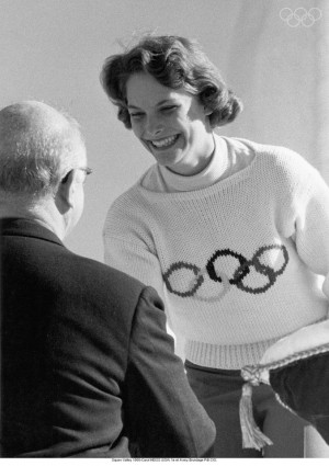 Squaw Valley 1960-Carol HEISS (USA) 1st and Avery Brundage IOC Pdt.