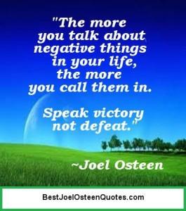 Speak Victory – Not Defeat