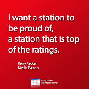 want a station to be proud of, a station that is top of the ratings