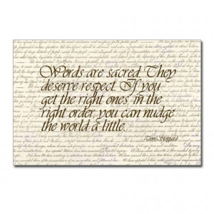 Quotes - Words are Sacred Postcards (Package of