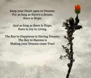 See more Quotes about Keep your heart open to dreams