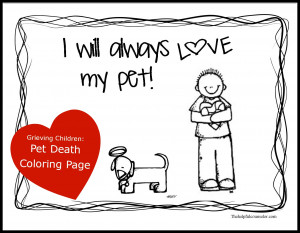 Dealing with Grief – Grieving Child: Pet Death Activity