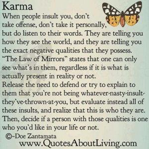 butterfly, i love it, karma, quotes