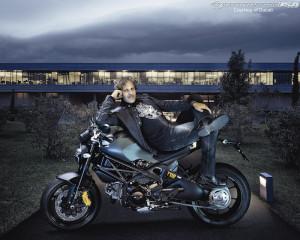 Ducati Monster Diesel Motorbike And Clothing Photos