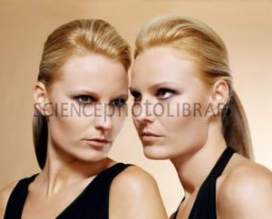 Two Identical Twin Sisters