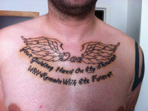 Angel Quotes For Tattoos Angel wings and quote tattoo