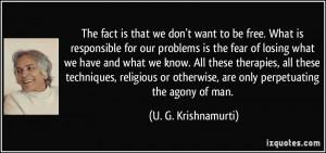Krishnamurti Quote Religion