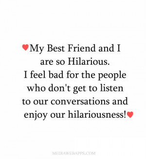 Miss My Best Friend Quotes And Sayings My best friend and i