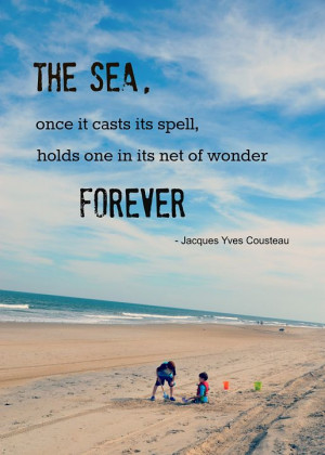 Jacques Cousteau Quote – Assateague Island www.cindywimmer.com