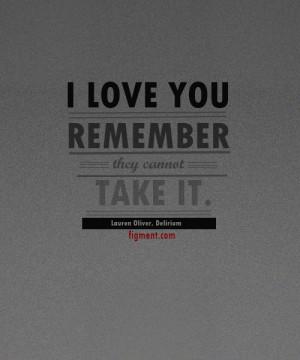 Love Quote from Lauren Oliver's