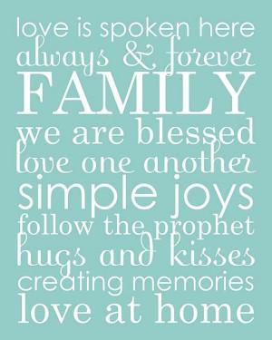 LDS Family Word Art