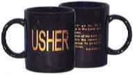 Church Usher & Greeter Badges, Pins, Gloves & Mugs, Cloth & Plastic ...