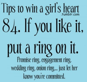 If you like it put a ring on it!