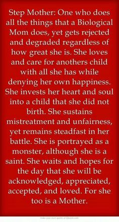 quote from someone's second (step) mother #stepmother could also ...