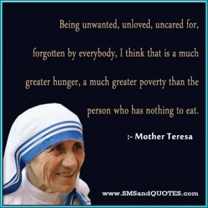feeling unwanted quotes read sources mother teresa quotes author light ...