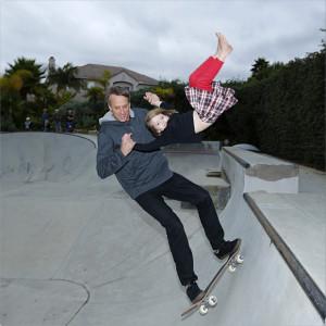 Tony Hawke skateboarding