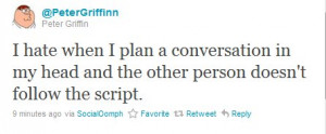 family guy, griffinn, peter, quote, text, twitter