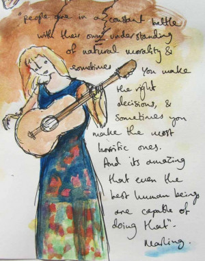 Laura Marling and interview quote illustration, II