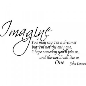 Quote It! - Imagine Removable Wall Quote-John Lennon Wall Quotes ...