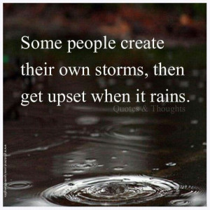 Rain and storms