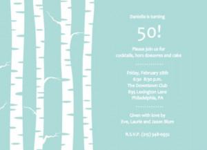 50th birthday party invitation by PurpleTrail.