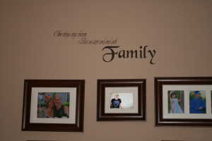 on the wall is a great way to personalize the space. This family quote ...