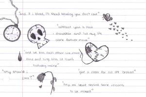 quotes and drawings by KuroAkaOokami