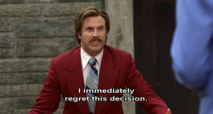 anchorman, funny, quote, quotes, will ferrell