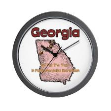 Georgia Funny Quote Wall Clock for