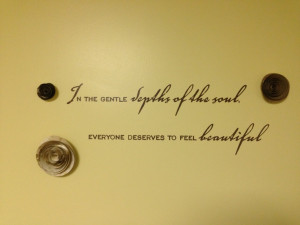 Simply beautiful #office wall #quotes