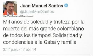 El Trino De Juan Manuel Santos Sobre Gabo Que No Quiere Que veas.