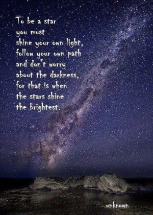 Here's to shining our own light and being stars!